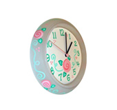 Decorated wall clocks
